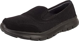 Urban Jacks Girls Back to School Shoes Womens Slip On Ladies Trainers UK Size 3 4 5 6 7 8 (UK 4 / EU 37 / US 6, Black)