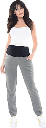 Purpless Maternity Pregnancy Trousers Under and Over Bump Joggers for Pregnant Women 1321 (8, Dark Gray Melange)