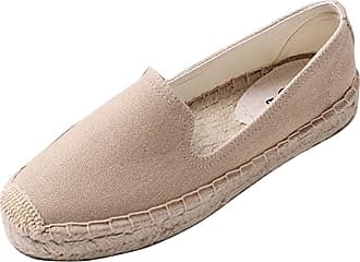 ICEGREY Womens Causal Loafer Flat Slip On Espadrille Khaki UK 6.5