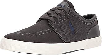 414aa0825289 Polo Ralph Lauren Mens Faxon Low-Canvas Corduroy Sneaker Charcoal 9.5 D US