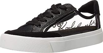 Karl Lagerfeld Womens Sneaker, SMOKE/BLACK,7.5