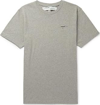 98748d5101b Off-white Logo-print Mélange Cotton-jersey T-shirt - Gray
