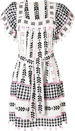 Dodo Bar Or Vestido com detalhe de borla e cinto - Branco