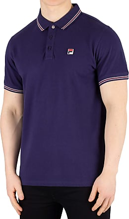 Fila Vintage Classic Tipped Polo Shirt Navy XL