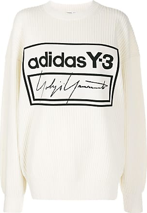 Yohji Yamamoto Suéter com decote careca Techknit - Branco