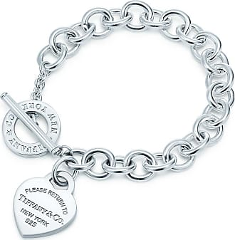 Tiffany & Co. Return to Tiffany Herzanhänger-Armband mit Knebelverschluss in Silber, X-Small - Size Extra Small