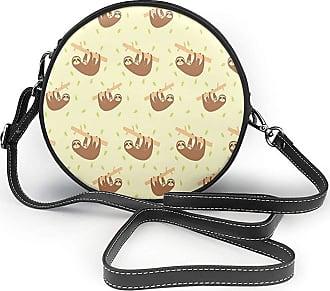 Turfed Baby Pattern Fashion Round PU Crossbody Handbag Round Shoulder Bag For Women Girls