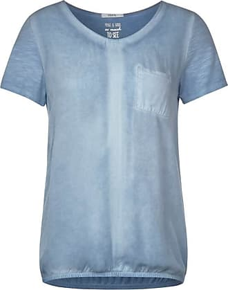 Cecil Lässiges T-Shirt - garment dye blue