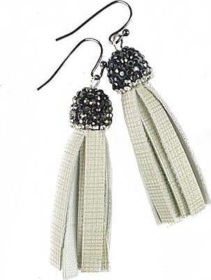 Fabulina Designs Tisla Earrings - Matte Cream