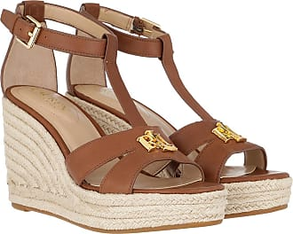 Lauren Ralph Lauren Sandals - Hale Casual Espadrilles Deep Saddle Tan - brown - Sandals for ladies