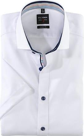 Olymp Level Five Kurzarmhemd, body fit, Royal Kent, Weiß, 38