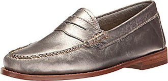 G.H. Bass & Co. Womens Whitney Penny Loafer Silver 7 M US