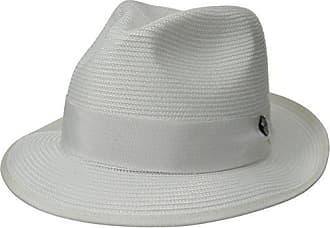 1ea3696c7b7387 Stetson Mens Latte Florentine Milan Straw Hat, White, 6.875