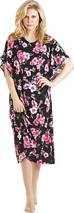 Camille Womens Full Length Floral Print Kaftans Medium Pink