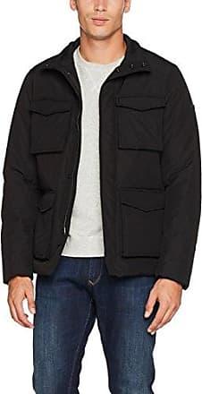 373a887d3527f0 Armani Jeans Herren Jacke Caban Coat, Schwarz (Nero 1200), Medium  (Herstellergröße