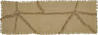 VHC Brands 18326 Burlap Natural Reverse Seam Patch Runner 13x36