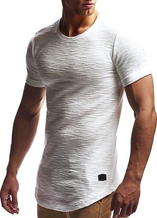 LEIF NELSON Mens T-Shirt Round Neck Collar LN-6324 Ecru XX-Large