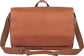Kenneth Cole Reaction Kenneth Cole Reaction Come Bag Soon Leather 15.6 Messenger Laptop, Cognac One Size