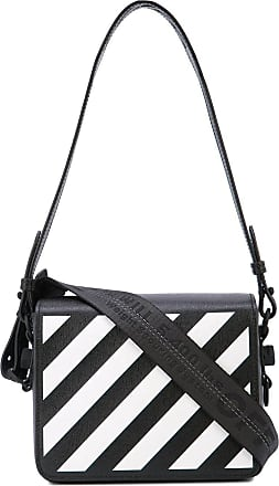 Off-white Black & White Diagonal Print Shoulder Bag - The Webster