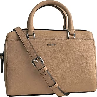 DKNY Medium Satchel Leather Bag with Removable Cross Body Strap