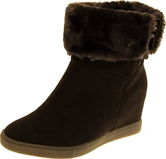 Footwear Studio Keddo Womens Brown Faux Suede Win-tex Lined Ankle Boots 7 UK