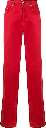 Kiton straight leg denim jeans - Red