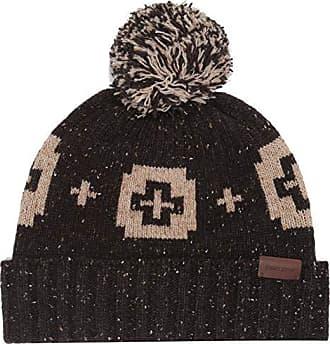 Zubaz Mens Standard Knit Winter Stocking Beanie Pom Hat One Size Pink//White
