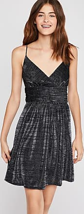 BCBGeneration Metallic Shirred Surplice Dress