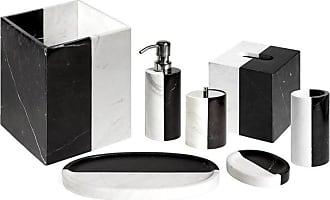 Jonathan Adler Canaan Black And White Marble Bath Set