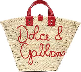 Dolce & Gabbana Borsa Kendra in rafia intrecciata