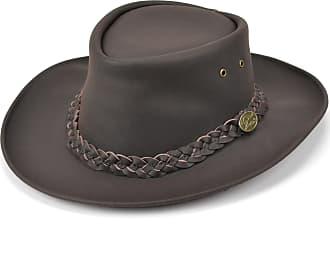 Hawkins Australian Bush hat Brown Genuine Leather Hardwearing (X-Large)