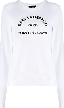 Karl Lagerfeld Moletom Address Logo - Branco