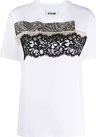 Koché Camiseta com patchwork - Branco