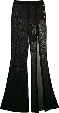 Balmain slit knit trousers - Black