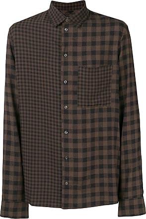 Qasimi contrast check shirt - Brown