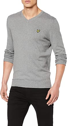 Lyle & Scott Lyle and Scott Men V Neck Cotton Merino Jumper - XXL