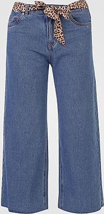 Only Calça Jeans Only Pantacourt Lisa Azul