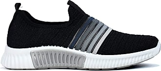 Generic Womens Sneakers Casual Slip On Air Cushion Lightweight Running Shoe (Black, Numeric_3)