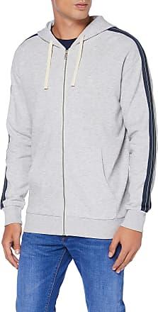 Tom Tailor Denim TOM TAILOR Denim Mens Kapuzen Jacke Sports Jacket, Grey (Light Stone Grey Mel 15398), Small