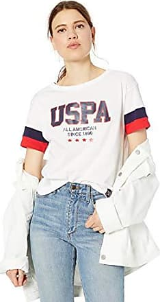 Womens Cotton Jersey T-Shirt with California Republic Logo Print POLO ASSN U.S
