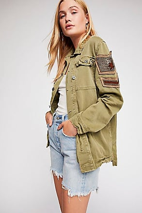 Free People Embellished Military Shirt Jacket by Free People