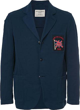 Kent & Curwen flag patch blazer - Blue