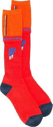 Facetasm colour block socks - Vermelho