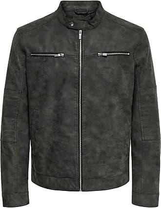 Only & Sons Mens Onsfavour Jupiter Pu Jacket OTW Faux Leather, Phantom, L