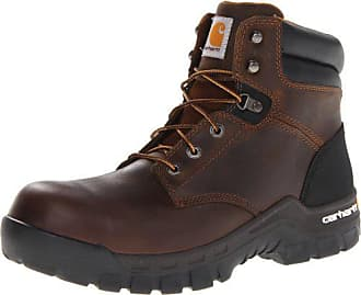 Carhartt Work in Progress Mens 6 Rugged Flex Waterproof Breathable Composite Toe Leather Work Boot CMF6366,Brown Oil Tanned Leather,10 M US