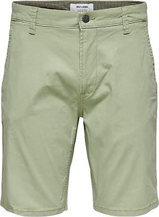 Only & Sons Mens onsHOLM Chino Shorts PK 2174 NOOS, Green (Tea), 32W