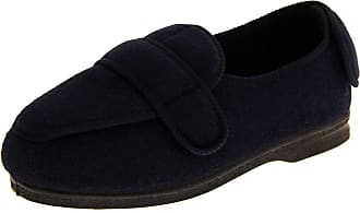 Footwear Studio Mens Coolers Orthopaedic Slippers Velcro Adjustable Back Strap Navy Blue Size 8