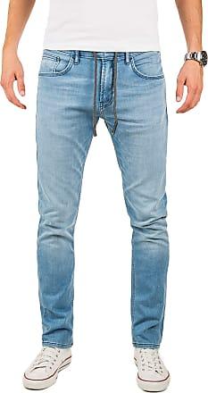 Yazubi Designer Sweatpants in Jeans - Look Erik - Sweatpants Men Baggy Skinny Slim Fit Royal Navy Aqua, Blue (Blue Shadow 174020), W29/L34