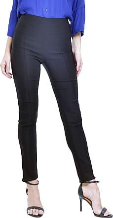 101 Resort Wear Calça 101 Resort Wear Skinny Cintura Alta com Nervuras em Bengaline Elastano Preta (P)