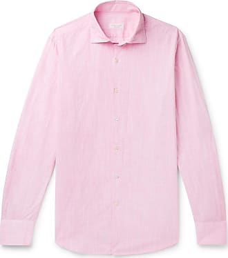 Incotex Fellini Slim-fit End-on-end Cotton Shirt - Red